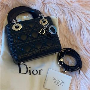 Christian Dior Mini Lady Dior Lambskin handbag